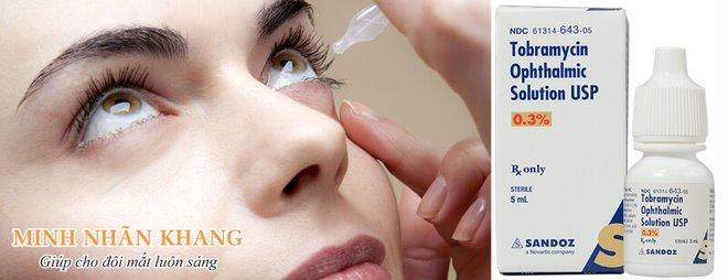 Thuốc nhỏ mắt trị khô mắt chứa kháng sinh được dùng khi khô mắt do nhiễm khuẩn